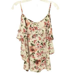 My Beloved Cold Shoulder Rose Top Small